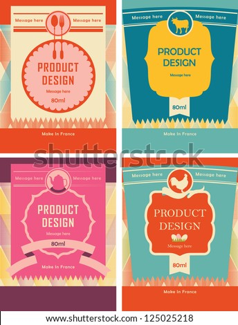 Product & Packaging design - stock vector