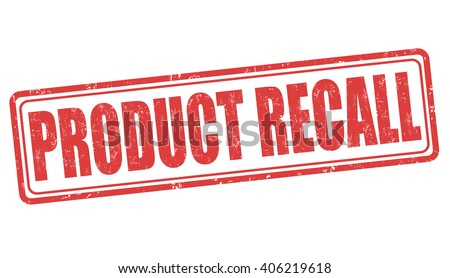 Product recall grunge rubber stamp on white background, vector illustration - stock vector