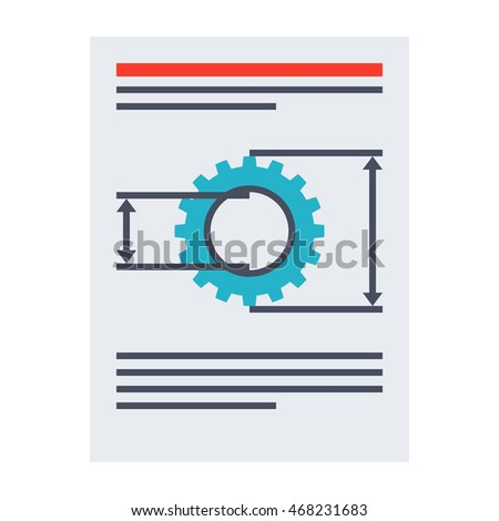 Product requirements document vector illustration in flat style.