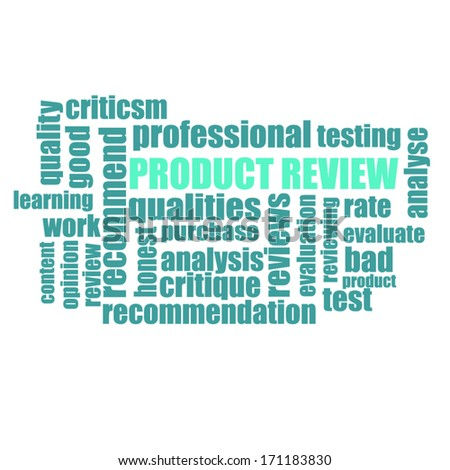 Product Review - stock vector
