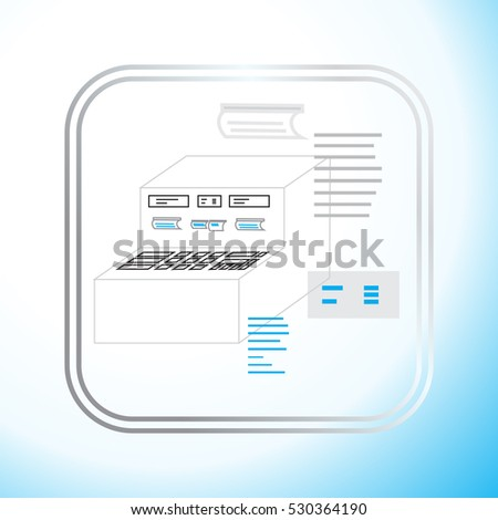 production control panel, vector illustration, for the production of the machine icon
