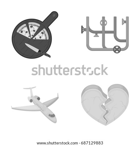 production, travel, hobby and other web icon in monochrome style.cold, gap, restaurant icons in set collection.