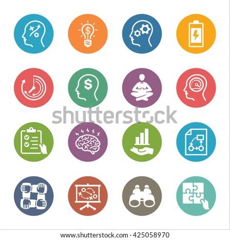 Productivity Improvement Icons Set 2 - Dot Series - stock vector