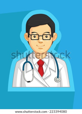 Profession - Doctor - stock vector