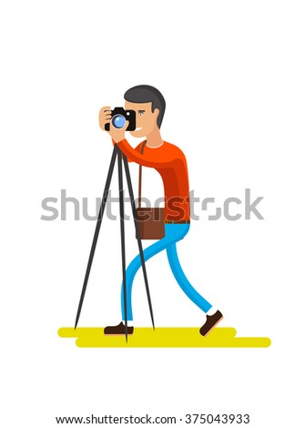 profession photographer illustration