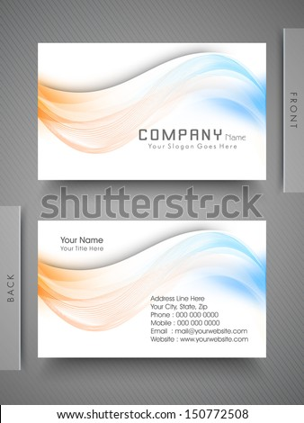Professional and designer business card set or visiting card set.  - stock vector