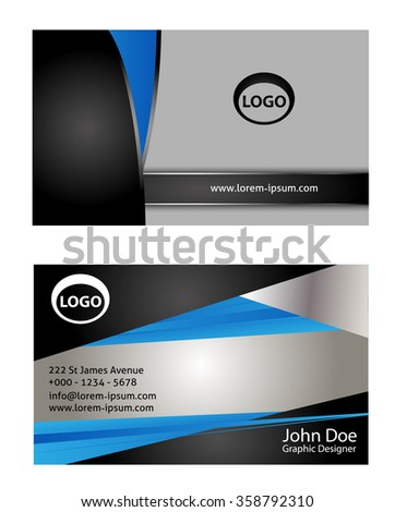 Professional and designer business card set or visiting card set  - stock vector