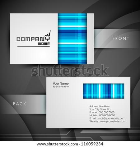 Professional and designer business card set or visiting card set. EPS 10. - stock vector