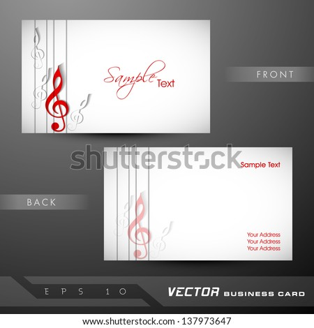 Music Business Card Stock Images RoyaltyFree Images Vectors - Music business card template