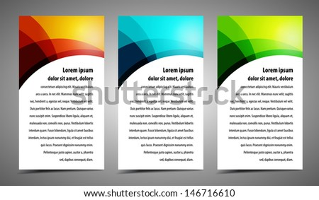 Professional and designer cards. Variety of uses, collection vector of modern color business templates card - stock vector