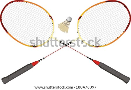 professional badminton racket vector