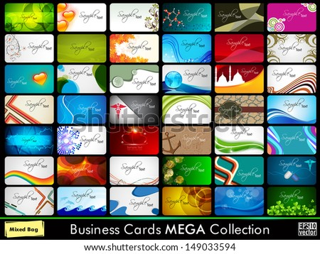 Professional Business Card Set.