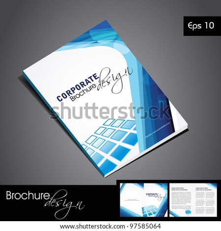 Professional business catalog template or corporate brochure design for document, publishing, print and presentation. Vector illustration in EPS 10. - stock vector
