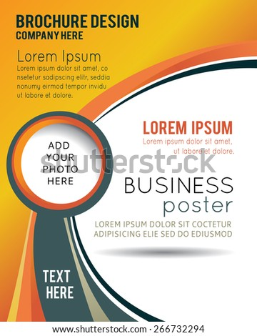 Stylish Presentation Business Poster Magazine Cover Stock Vector ...