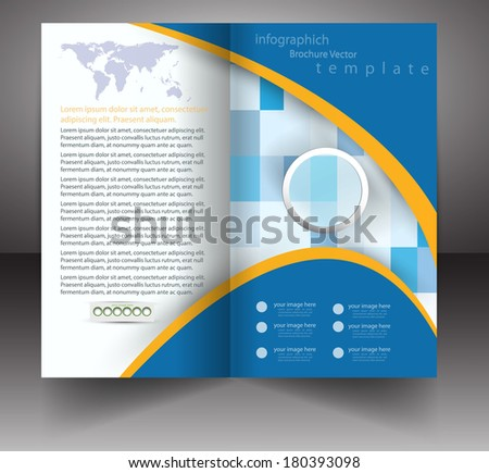 Professional business three fold flyer brochure stock for Professional brochure templates