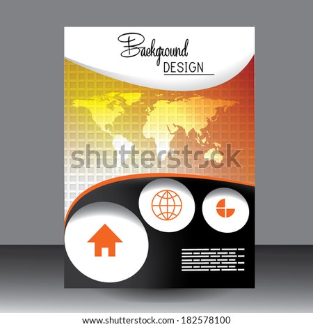 Professional business  flyer template, brochure or cover design or corporate banner design for publishing, print and presentation. EPS 10. - stock vector