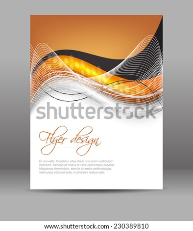 Professional Business Flyer Template Corporate Brochure Stock