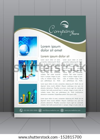 Professional business flyer template or corporate banner design, can be use for publishing, print and presentation - stock vector
