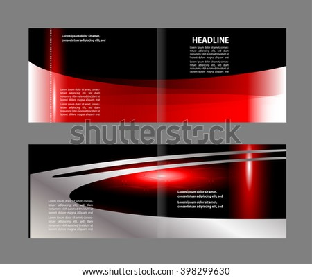 Professional business flyer template or corporate brochure design  - stock vector