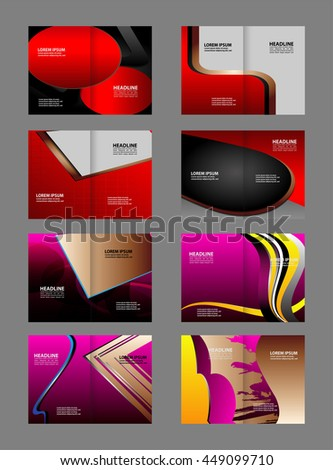 Professional business flyer template or corporate brochure design set