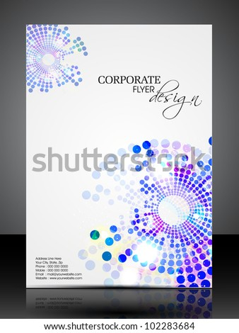 Professional business flyer template or corporate brochure or cover design for publishing, print and presentation. Vector illustration in EPS 10. - stock vector