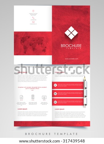 Professional Business infographics Brochure, Template or Flyer design with front and back side presentation.   - stock vector