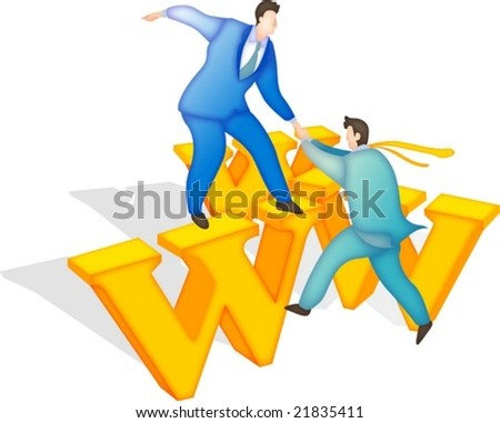 Professional Business People - isolated on white background : vector illustration - stock vector