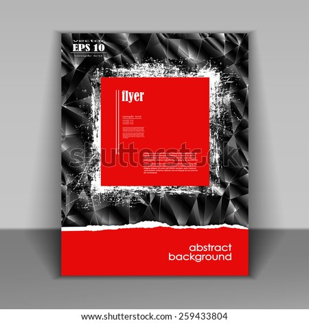 Professional business red flyer template, brochure or cover design or corporate banner design for publishing, print and presentation. EPS 10. - stock vector
