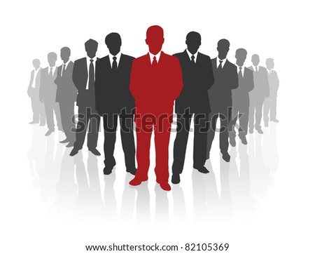 Professional business team. Vector illustration - stock vector