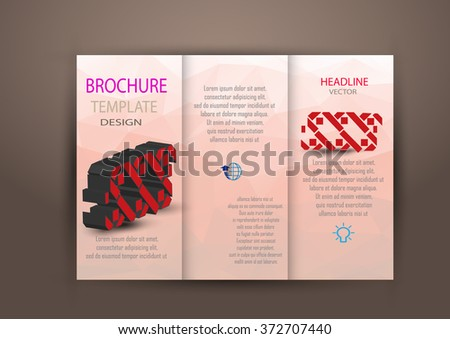 Professional business three fold flyer template, corporate brochure or cover design Brochure design template vector tri-fold.vector illustration. - stock vector
