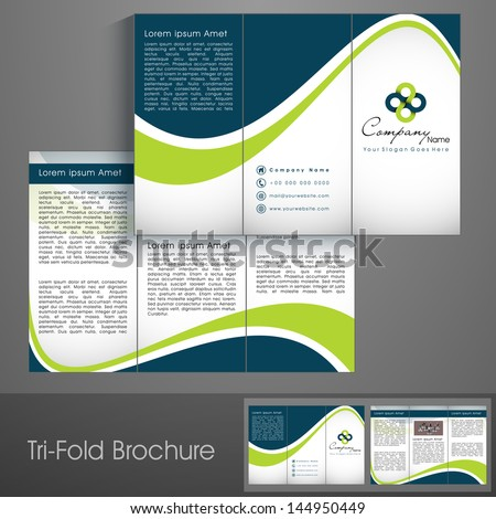 professional business three fold flyer template stock vector 144950449 shutterstock. Black Bedroom Furniture Sets. Home Design Ideas