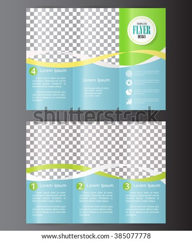 Professional business three fold flyer template, corporate brochure or cover design, can be used for publishing, advertising, printed material and presentation. - stock vector