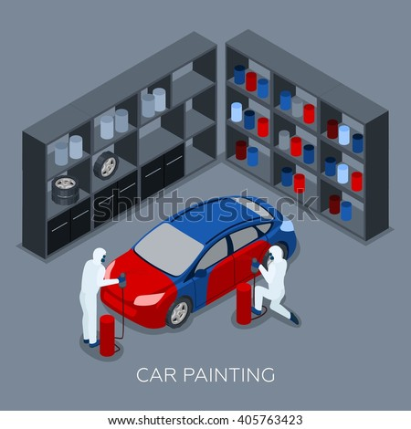 Auto service center stock images royalty free images for Garage service professionals