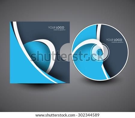 Professional CD Cover Presentation Design Template Editable Vector Illustration