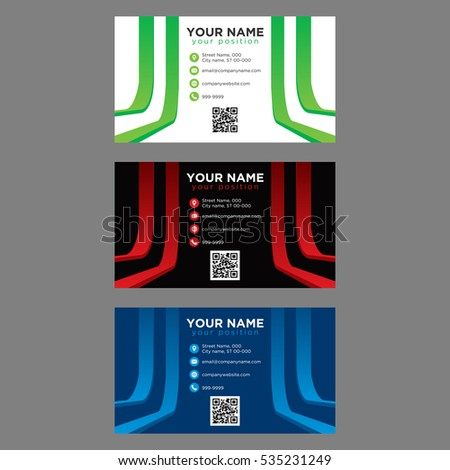 Professional colorful good looking business cards stock vector professional colorful good looking business cards for companies colourmoves