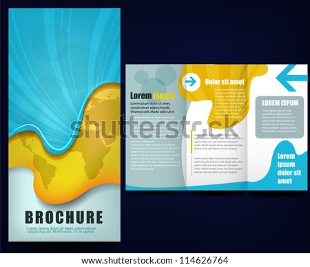 Professional corporate business flyer template desi - stock vector