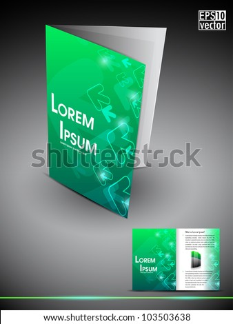 3d brochure design - inner pages stock images royalty free images vectors