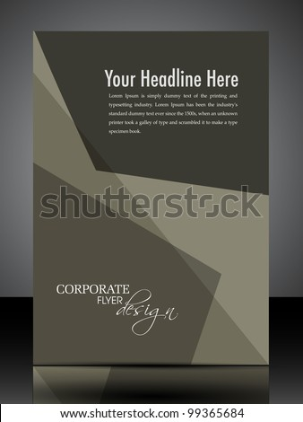 Professional  flyer, banner or cover design with abstract corporate look in brown color and copy space for your message. EPS10, Vector Illustration. - stock vector