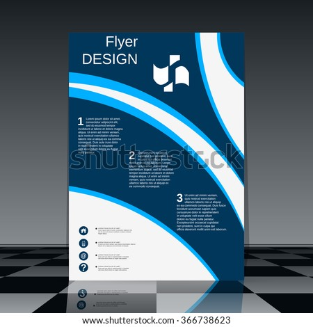 Professional Flyer Template Brochure Mockup Business Stock Vector