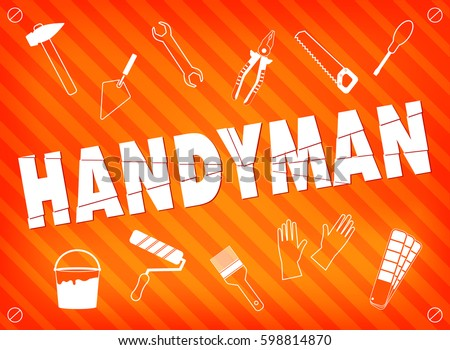 handyman logo stock images royalty free images vectors shutterstock. Black Bedroom Furniture Sets. Home Design Ideas