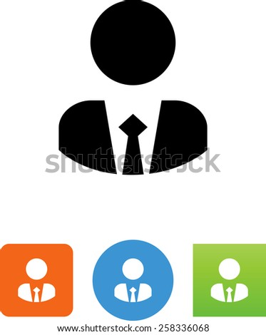 Professional looking avatar symbol for download. Vector icons for video, mobile apps, Web sites and print projects. - stock vector