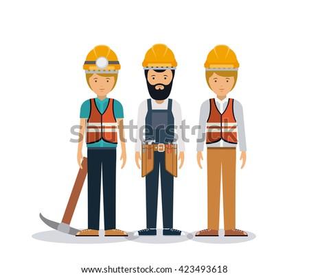 professional men design  - stock vector