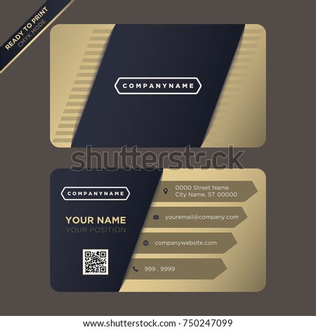 Professional modern business card companies stock vector 750247099 professional modern business card for companies colourmoves