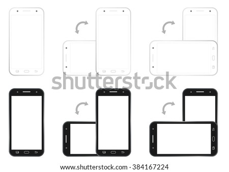 Professional of cell phone demo screen HD 1920 x 1080 template is convenience to present the storyline to client. A4 design of paper ratio is easy to fit for print out. - stock vector