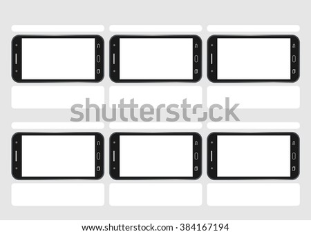 Professional of cell phone screen HD 1920 x 1080 storyboard template is convenience to present the storyline to client. A4 design of paper ratio is easy to fit for print out. - stock vector