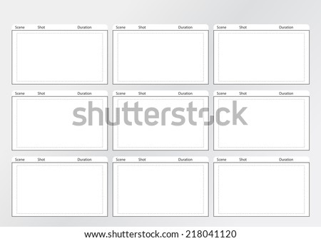 Professional Film Storyboard Template Easy Present Stock Photo