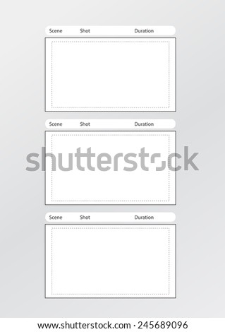 Professional Film Storyboard Template Easy Present Stock ...