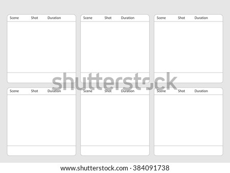 Professional of traditional tv 4:3 ntsc and pal storyboard template is convenience to present the storyline to client. A4 design of paper ratio is easy to fit for print out. - stock vector