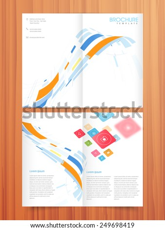 Professional 2 Page Brochure Template Flyer Stock Vector Hd Royalty