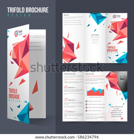 Professional Tri Fold Brochure Layout Modern Abstract Stock Vector ...